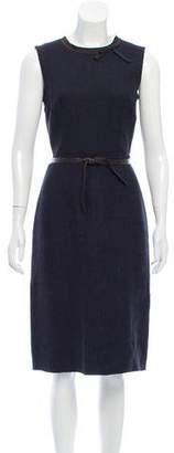 Prada Bow-Accented Silk-Blend Dress