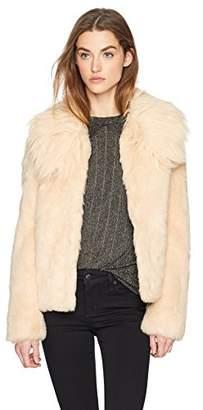 GUESS Women's Agata Faux Fur Coat