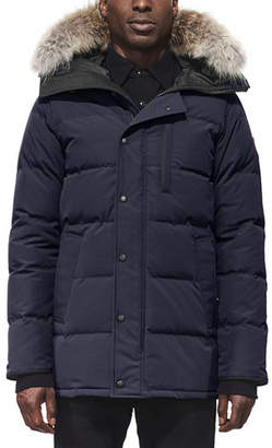 Canada Goose Men's Carson Fusion-Fit Down Parka Coat with Fur-Trim Hood