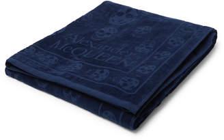 Alexander McQueen Logo-Detailed Cotton-Terry Towel