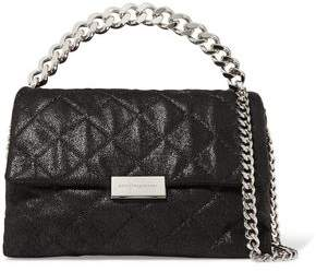 Stella McCartney Quilted Faux Brushed-Leather Shoulder Bag