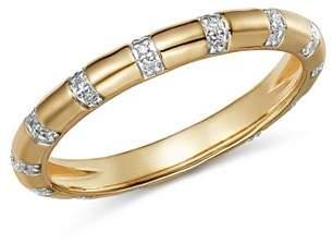Adina 14K Yellow Gold Pavé Diamond Band Ring