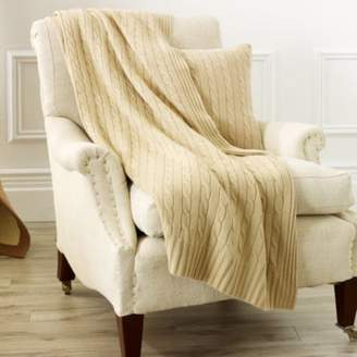 Ralph Lauren Cable Cashmere Throw Blanket