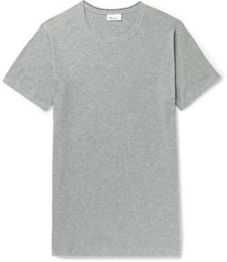 Schiesser Ludwig Slim-Fit Melange Stretch-Cotton Jersey T-Shirt - Men - Gray