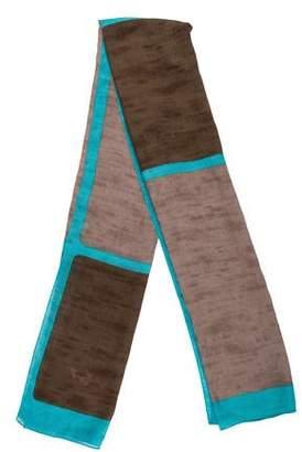 Kenzo Striped Wool Scarf