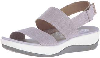 Clarks Women's Arla Jacory Sandals, Sand/White Heathered Elastic