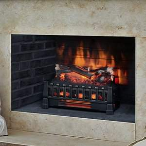 Duraflame Electric DFI030ARU Infrared Quartz Set Heater with Realistic Ember Bed and Logs