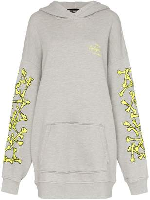 Amiri oversized logo sleeve hoodie