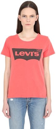 Logo Print Faded Cotton Jersey T-Shirt $30 thestylecure.com