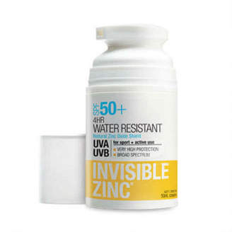 Invisible Zinc SPF50+ 4 Hour Water Resistant Sunscreen Lotion