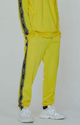 PacSun Editor's Choice Yellow Side Stripe Track Pants
