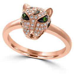 Effy 14K Rose Gold Tsavorite Leopard Ring
