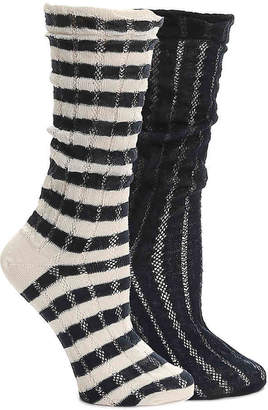 Mix No. 6 Stripe Crew Socks - 2 Pack - Women's