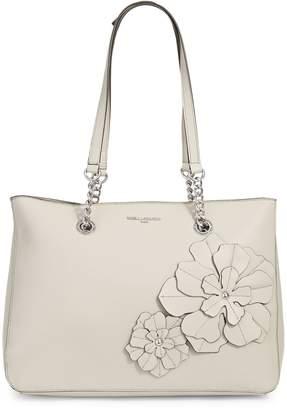 Karl Lagerfeld Paris Floral Leather Tote