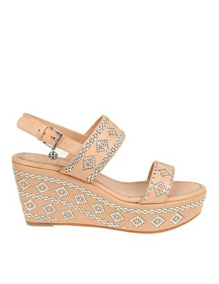 Tory Burch blake Ankle-strap Wedge Sandal Sandal In Leather