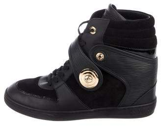 Louis Vuitton Epi Leather High-Top Sneakers