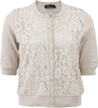 TWIN-SET Lace Front Cardigan $381 thestylecure.com