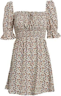 Faithfull The Brand Beldhi Floral Mini Dress