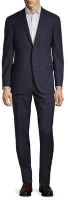 Corneliani Plaid Wool Suit