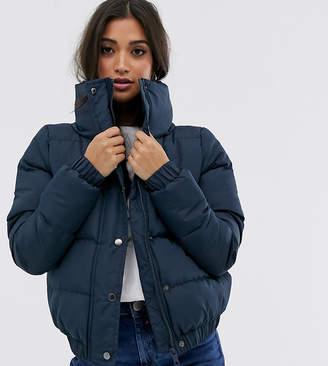 Brave Soul Petite slay padded coat in crop length