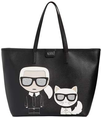 Karl Lagerfeld K/Ikonik Faux Leather Tote Bag