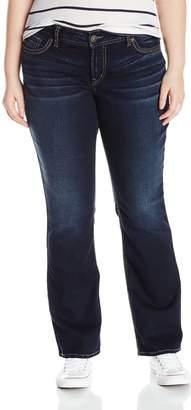 Silver Jeans Co. Women's Plus Size Suki Mid Silm Bootcut Skinny Jean