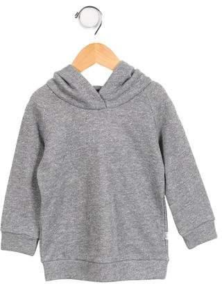 Il Gufo Girls' Hooded Metallic Sweatshirt
