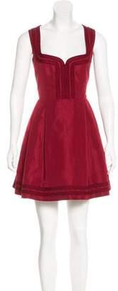 RED Valentino Embroidered Mini Dress