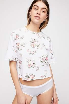Monrow (モンロー) - Monrow Cutoff Floral Sweatshirt