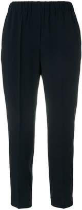 Incotex elastic waist tapered trousers