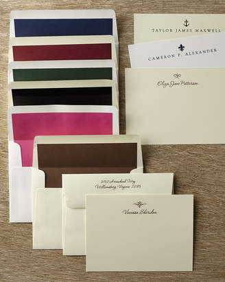 Neiman Marcus 50 Motif Correspondence Cards with Personalized Unlined Envelopes