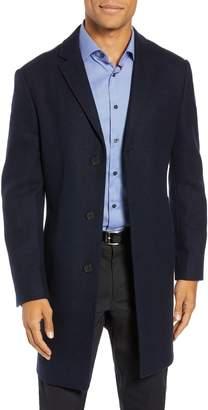 John W. Nordstrom R) Mason Herringbone Wool & Cashmere Overcoat