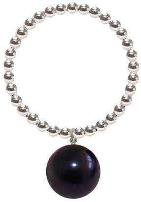 Ring Black ORA Pearls - Silver Orb Pearl