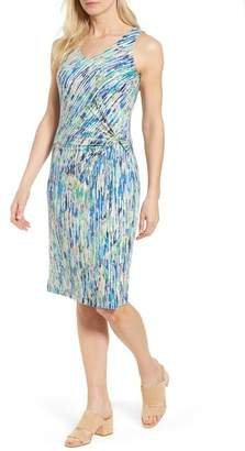 Nic+Zoe Mirage Print Side Twist Dress (Regular & Petite)