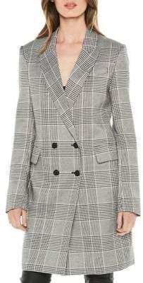 Bardot Double-Breasted Checked Blazer