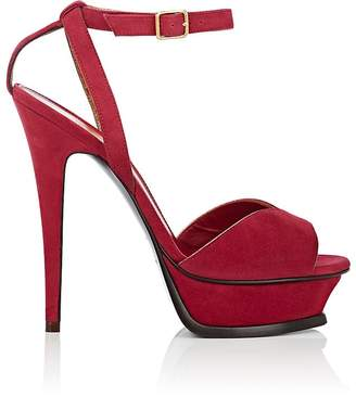 Saint Laurent Women's Tribute Suede Platform Sandals