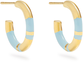 Positano gold-plated hoop earrings