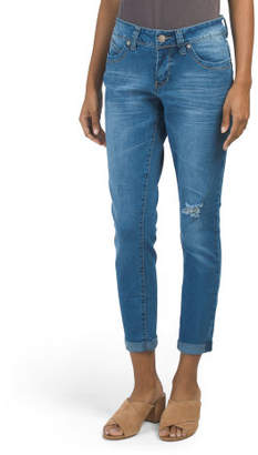 Booty Enhancing Roll Cuff Skinny Jeans