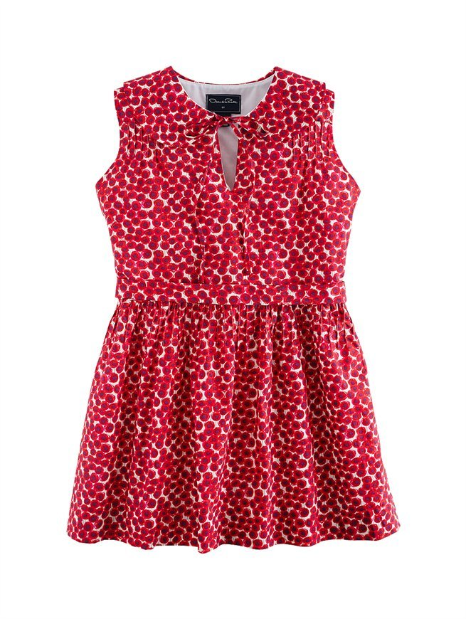 Oscar de la Renta Girls' Poppy Print Bella Dress