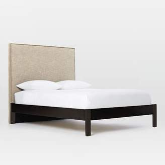 west elm Tall Nailhead Headboard (Natural) + Simple Bed Frame (Chocolate)