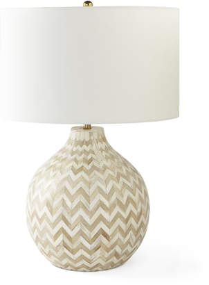Serena lily inlaid bone table lamp