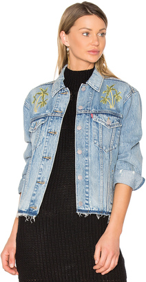 LEVI'S Palm Embroidered Denim Jacket $128 thestylecure.com