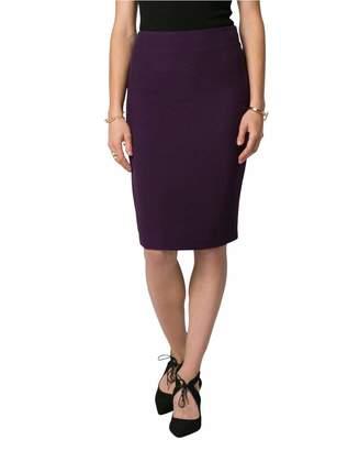 Le Château Women's Piqué Pencil Skirt