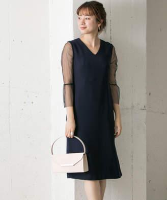Couture MAISON メッシュレース袖ワンピース