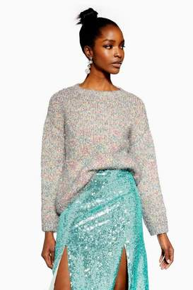 Topshop Tinsel Oversized Jumper