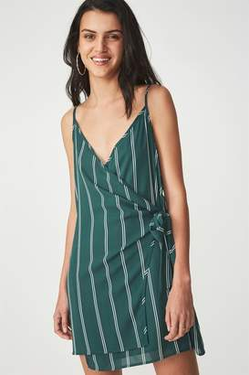Cotton On Woven Margot Wrap Slip Dress