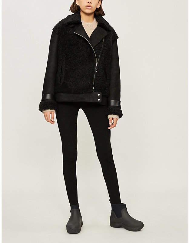 SHOREDITCH SKI CLUB Devonia asymmetric shearling jacket