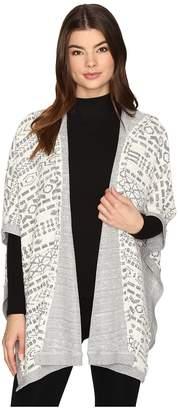 BB Dakota Archibald Jacquard French Terry Hooded Poncho Women's Clothing