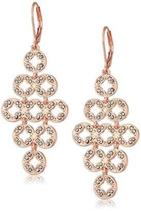 Anne Klein Pave Chandelier Leverback Earrings