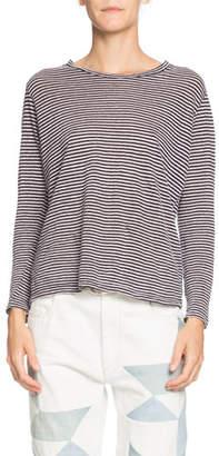 Etoile Isabel Marant Kaaron Striped Jersey Long-Sleeve Tee